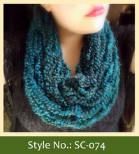 SC-074 fancy winter thick women knitted scarf
