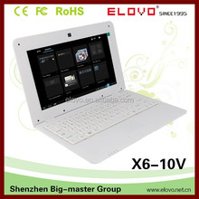 "top-seller 10.1""Android laptop dual HDD slots shiny shell wireless and cable network supported OEM brand factory adnroid laptop"