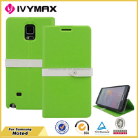 Double color fashion flip cover for Samsung NOTE 4 leather case