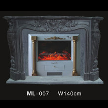 black marble indoor wall mount electric fireplace mantel