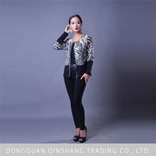 2015 new design ladies long sleeve printed sweater cardigans of live fit apparel