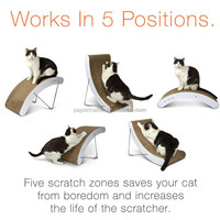 Furniture protection cardboard cat scratcher toy OEM