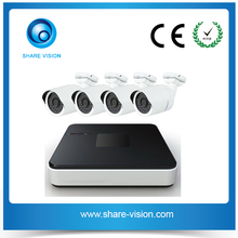economic h.264 4ch outdoor ip camera mini nvr security system