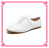 Wholesale genuine leather shoes women white shoes flat women real leather shoes