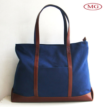 Leather handle canvas tote bags for women fashion shoulder bags for women
