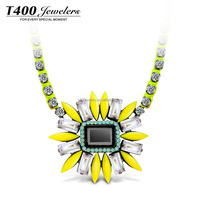T400 2015 Yellow Fashion Necklace With Pendant From Austrian Crystal Engagement Jewelry #10642 Tropical Paradise