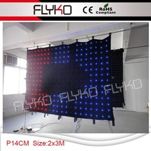 factory price p14cm 2x3m digital and easy install led light backdrop