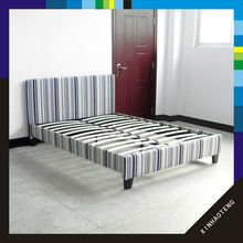 xiamen new design home furniture fabric bed frame