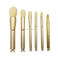 metal texture handle brand name powder make up brush set wholesale