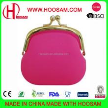 Fashion silicone coin wallet pochi purse
