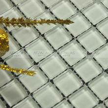 la decoración del hogar bahroom deisgn barato Pure cocina blanca azulejo mosaico de vidrio protector contra salpicaduras