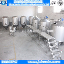 1000L Beer brewing equipment , Small beer brewing equipment and Bar/pub/restaurant beer brewing line with keg and bottle filling