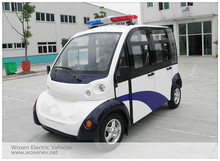 4 seats enclosed electric patrol car electric patrol vehicle