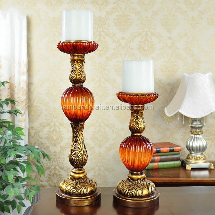 2016 Usa Tall Antique Ball Resin Tealight Candle Holder