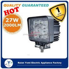 Brand 2x27W 12V 24V LED Work Light Bar SPOT Lamp Tractor Truck SUV UTV ATV Off-road