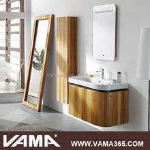 VAMA V-10208 Apple Wood Modern Wall Mounted Bathroom Vanity Storage