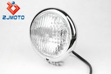 Motorbike Lens Parts Head Light Aluminum Universal Polish Headlight for all motorcycle