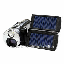 """12mp dual solar panel camcorder 3"""" touch display digital video camera full hd 1080p"""