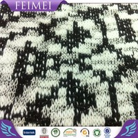 Feimei Loose Gauge Knitting Cotton Polyester Fancy Hacci Jacquard Fabric