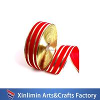 New product glittery ribbon,metallic gold polyester ribbon
