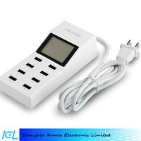 High Quality LED display 5v/9.2a 8 Port Desktop Usb Charger For Iphone, Ipad,Samsung