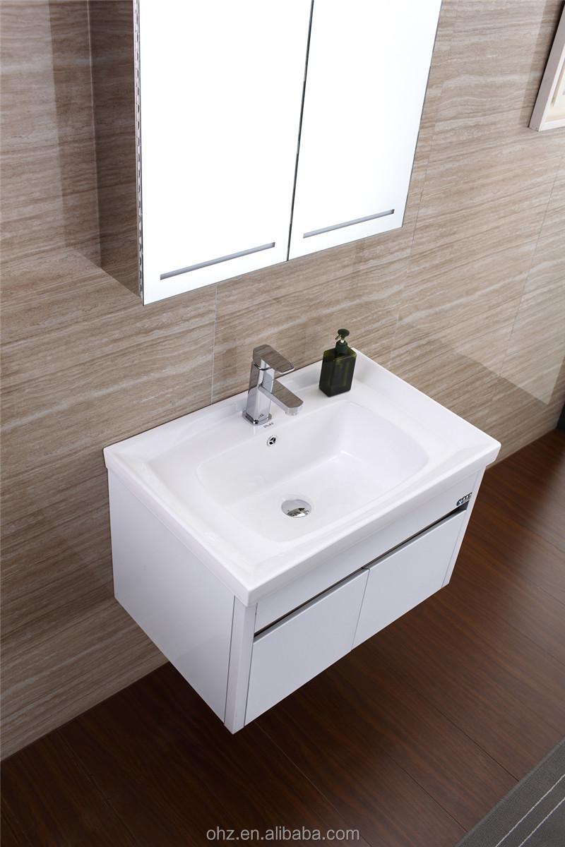 Waterproof Bathroom Vanity,Stainless Steel White Bathroom Cabinet ...
