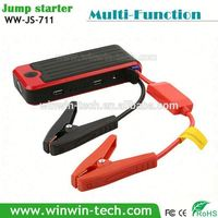 black and red colored multi-function portable battery