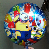 shaped cartoon balloon,18inch Minions mylar ballons,Lovely Despicable me balloons