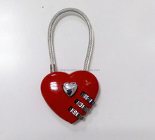 Love shape Cute ping lock/love lock and combination lock containers