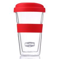 Elegant Double Wall Glass Coffee Mugs, Heat-proof Simple Mug 300ml Handcrafted Coffee Cups