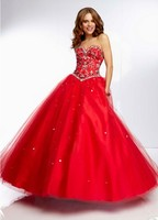newest red backless Matron Of Honor Dresses