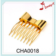 2015 hot sale hair accessories women fashion bowknot girls hairpins,alloy tuck comb