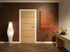 Simple design solid wood interior door, flush room door