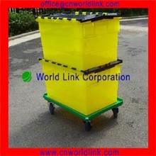 50kgs Attach Lid Moving Plastic Transparent Containers