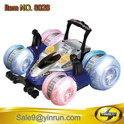 crazy toy game rc stunt car LED lights wheels remote control rc drift car