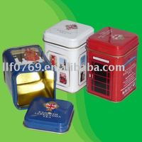 square mini tea can,tea packaging box,green tea box