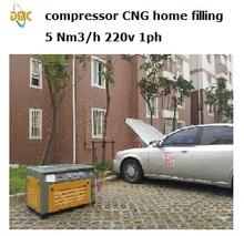 Natural gas compressor 3-5Nm3/h 200bar 3600psi Home refuel CNG station (hot sale)