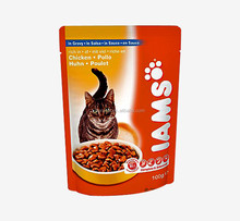 AUOP-001 stand up pet ketty food plastic bags with zipper
