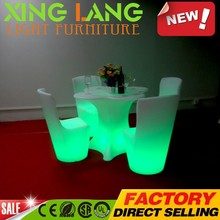 brand new modern design led furniture RGB color changeable plastic water proof rechargable outdoor table