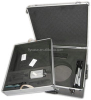 portable display sample aluminum carrying tool case with equipment storage