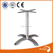 Hot Sale Item aluminum table/dining table bases/glass top table bases HD322