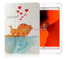 Hot selling comely Colorful Silk Painting Flip Leather Cover Case for Samsung T211/T210