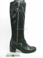 Cool full length side zip two buckle straps military combat boot