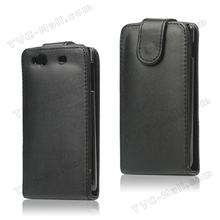 Black Leather Flip Case For Samsung Wave 3