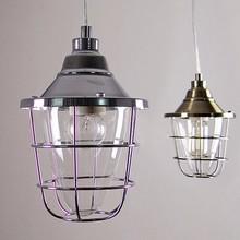 6.3-10 Industrial Steel Cage pendant lamp - lampshade OR full set lamp - pendant light - DIY - hanging - Edison bulb