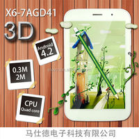 Shenzhen 3g tablet pc 7inch 3D mid with high resolution 5M camera