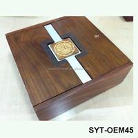 Customized real wood box walnut wood case