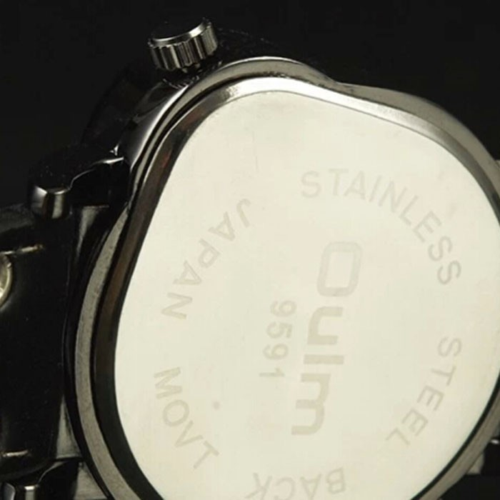 Oulm gmt два зоны время навигатор фигуру мужчины часы кварцевые кожа группа наручные часы новой моды