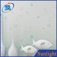 blue flower natural beautiful wallpaper non-woven wallpaper 3d kids bedroom wallpaper