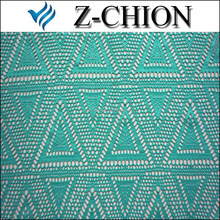 2015 latest cord mesh lace design Shaoxing factory polyester elastic triangle design net lace for ladies garments lace fabric
